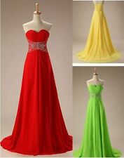 Long Women's beaded Chiffon Prom Dress Party Pageant Formal Dresses Evening Gown