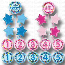 1ST 2ND 3RD 4TH 5TH BIRTHDAY PARTY SUPPLIES BALLOONS