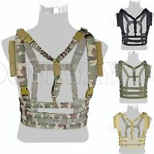 Adjustable FML Tactical MOLLE Chest Rig High Speed Vest w/QD Bungee Sling Buckle