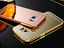 Ultra-Thin Aluminum Metal Frame Mirror Back Case Cover for iPhone Samsung Galaxy