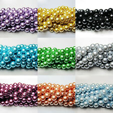 100X Czech Glass Pearl Round Loose Beads Jewelry Making For Necklace 4/6/8/10mm