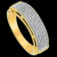 Men's SOLID 10K Gold 1/3 CTW Diamond  Engagement Wedding Pinky Band Ring