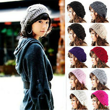 Fashion Women Knitted Skull Beanie Hat Lady Winter Warm Ski Cap Hats