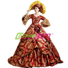 Deluxe Medieval Renaissance Ball Gown Wedding Dress Royal Court Stage Costume