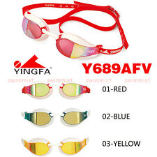 YINGFA Y689AFV SWIMMING GOGGLES ANTI-FOG UV PROTECTION RED BLUE YELLOW FREE SHIP