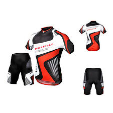 Men Cycling Bike Outdoor Jersey Shorts Short Sleeves Breathable Riding Pants WS