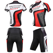 Cycling Bicycle Bike Outdoor Jersey + Shorts Short Sleeves Riding Pants WS