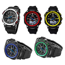OHSEN Digital LCD Alarm Date Mens Sport Rubber Watch Blue WS