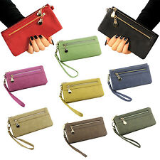 Women Wallets Multifunctional PU Leather Clutch Lady Purse Phone bag ink WS