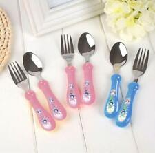 Hot Cute Child Fork Cutlery Fork Spoon Stainless Steel Baby Fork Spoon Set FI