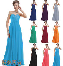New Bridesmaid Prom Formal Party Evening Gown Stock Size 6 8 10 12 14 16 18