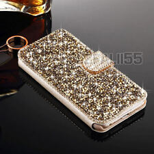 Luxury Crystal Bling Diamond Flip Leather Case Wallet Cover For iPhone 6 6S Plus