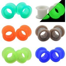 6 PAIR-Silicone Ear Skins-Ear Gauges-Ear Plugs-Ear Tunnels New Stylish Piercing