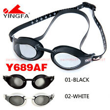 2016 NEW YINGFA Y689AF SWIMMING GOGGLES ANTI-FOG BLACK & WHITE  FREE FLAT SHIP !