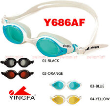 NEW YINGFA Y686AF SWIMMING GOGGLES ANTI-FOG BLACK ORANGE BLUE YELLOW [FREE SHIP]