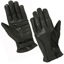 Hugger Ladies Classic Unlined Leather Driving Gloves Women's Padded Soft Palm