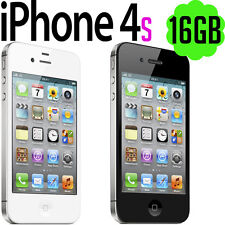 Apple iPhone 4s 16GB UNLOCKED Black White Mobile Phone Smartphone