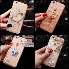 Bling crystal Gems Diamonds hard ultra thin back Shell Phone Case Cover Skin L
