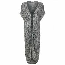 -% BLUE INC Grey Marl Open Front Long Cardigan MUST HAVE SIZE M L BNWT