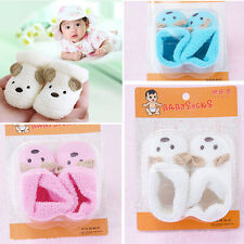 Newborn Socks Unisex Baby Boys Girls Infant Cute Bear Crib Soft Warm Shoes Boots