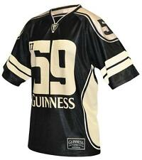Official Guinness American Football Jersey Mens Irish Ireland Black Sport Shirt