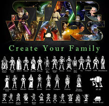 StarWars Vinyl Decal Sticker Create Star Wars Family Car Window Laptop Wall Art