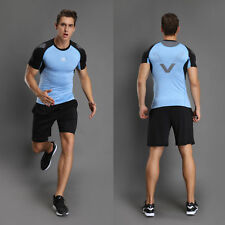 Mens Sports Compression Armour Baselayer Short Sleeve T-Shirt Athletic US Ship