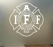 "14"" iaff vinyl Decal sticker any size color surface car LOCKER WALL FIRE S042"