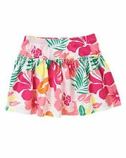 NWT Gymboree Girls Hop N Roll Tropical Flower Floral Skort Size 6