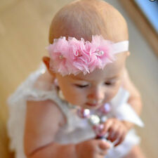 Baby girls Headbands Tulle Mesh flowers Pearl Crystal Hair Bands Hair accessory