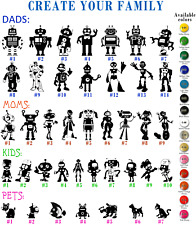 Robots Vinyl Decal Sticker Car Window Create your Family Dads Moms Kids Pets Art