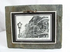Antique Historic New Orleans French Quarter Lace Roofing Slate Tile Early 1800s