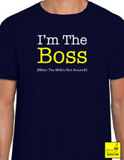 I'm The Boss - Mens Funny Novelty T-Shirt Husband Wife Gift Best Wedding Love