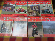 8 X MOTORCYCLE SPORT MAGAZINE 1989 JAN, FEB, MAR,MAY,JULY,AUG,SEPT,OCT