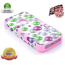 New Bubble Impact Armor Hard & Soft Rubber Hybrid Case Cover for iPhone 5