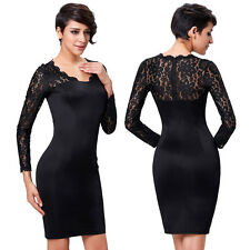 Mother Of The Bride Women Lace Formal Cocktail Evening Party Wiggle Pencil Dress