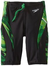 Speedo Mens/Boys Swimsuit Vortex Splice Xtra Life Lycra Jammer Kelly Green 20-28