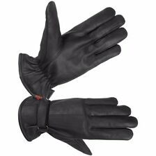 Hugger Mens Luxurious Leather Winter Driving Gloves Bike Riding Super Warm Lined