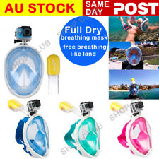 GENUINE THENICE Full Face Snorkel Mask Scuba Diving Snorkelling Set For GoPro