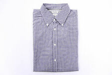 ".NWT $565 Brunello Cucinelli Mens 2-Tone Checkered ""Slim Fit"" Button Down Shirt"