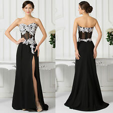 Sexy Women Split Long Evening Dress Prom Gown Formal Bridesmaid Cocktail Party