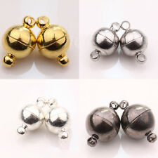 Lots 5/10Pc Gold/Silver Plated Round Strong Magnetic Clasp Hook Jewelry Findings