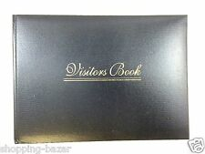 Black Premium Quality Visitor Book Padded - Business Hotel Guest House Reception