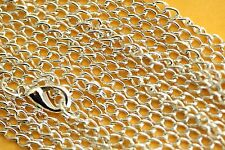 Curb Chain Silver Plated Chains 2.5 MM Necklace Wholesale 11 & 22 Piece Lots