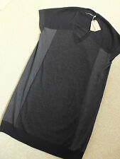 "ALL SAINTS BLACK CINDER ""CALVO"" TUNIC DRESS - SIZE 10 - NEW & TAGS RRP £138.00"