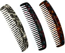 FRENCH AMIE FUSION FINE HANDMADE FRANCE 6 INCH MEDIUM CELLULOID HAIR COMB COMBS