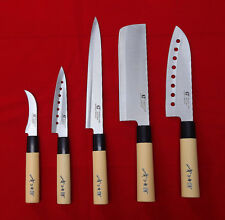 5 Chef Knives Full Set Sashimi DEBA Stainless Steel Sushi Kitchen Japan Knife