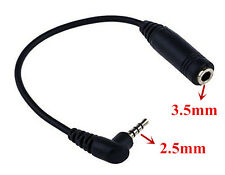 2.5mm Male Jack to 3.5mm Stereo Female Audio Headphone Adapter Cable Lead Lot