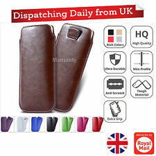 Luxury Leather Pull Tab Slide In Case Cover Sleeve Pouch Apple IPhone 6 & 6 Plus