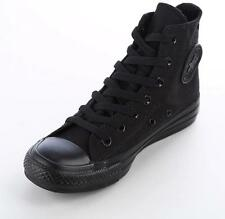 Converse All Star Chuck Taylor High Top Trainers Monochrome All Black Women Men